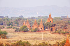 Comprehensive view of stupa in Bagan, Myanmar Royalty Free Stock Photo