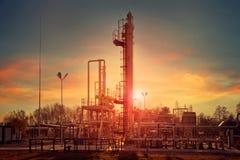 Compresión del gas natural para la deshidratación Fotografía de archivo libre de regalías