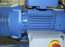 Compresor azul de la fábrica Imagen de archivo libre de regalías