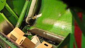 Compresor de la basura del camión metrajes
