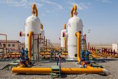 Compresor del refinator del petróleo y gas Foto de archivo