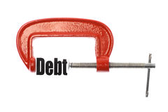 Compress debt Stock Images
