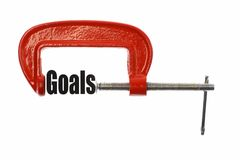 Compress the goals Stock Photos