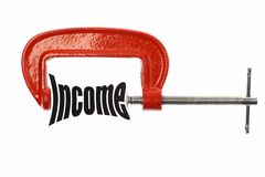 Compress income Royalty Free Stock Photo