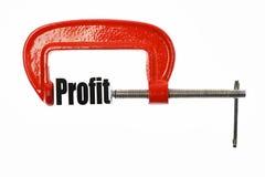 Compress the profit Stock Image