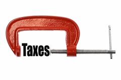 Compress taxes Stock Image