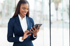 Compressa africana della donna di affari Immagine Stock Libera da Diritti