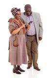 Compressa africana senior delle coppie Immagini Stock