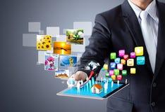 Compressa del touch screen Immagine Stock Libera da Diritti