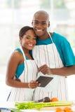 Compressa della cucina delle coppie fotografia stock libera da diritti
