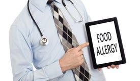 Compressa della tenuta di medico - allergia alimentare Fotografie Stock Libere da Diritti
