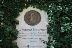 Compressa di Antonio Fogazzaro Fotografia Stock Libera da Diritti