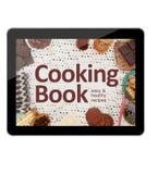 Compressa di Digital che cucina libro immagini stock