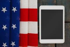 Compressa di Digital sulla bandiera americana Fotografie Stock Libere da Diritti