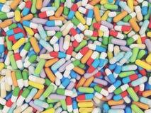 Compressa di vitamine variopinta Immagini Stock Libere da Diritti