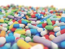 Compressa di vitamine variopinta Immagini Stock