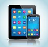 Compressa e Smartphone Immagini Stock