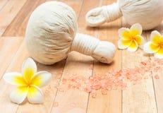 A compressa erval tailandesa é combinação original e estas medicinais Fotos de Stock Royalty Free