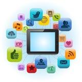 Compressa sociale di media Illustrazione di Stock