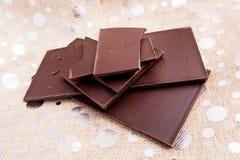 Compresse del cioccolato fondente Fotografia Stock