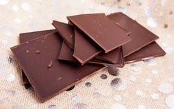 Compresse del cioccolato fondente Fotografia Stock Libera da Diritti