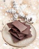 Compresse del cioccolato fondente Immagine Stock