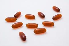 Compresse e capsule di vitamine Fotografie Stock