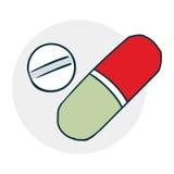 Compresse e droghe Fotografia Stock Libera da Diritti