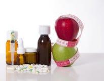 Compresse e droghe per perdita di peso Fotografie Stock