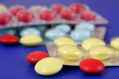 Compresse medicinali Fotografia Stock