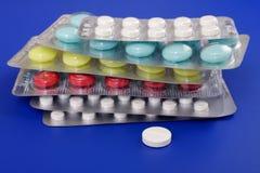 Compresse medicinali Fotografie Stock Libere da Diritti