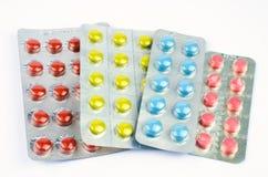 Compresse medicinali in plastica di vuoto Fotografie Stock
