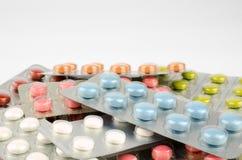 Compresse medicinali in plastica di vuoto Immagine Stock
