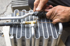 Compressed air car. Components to be repaired stock photos