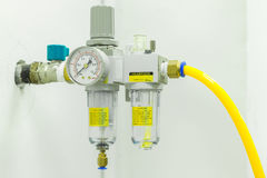 Compressed Air Filter Regulator Lubricator. Stock Photography