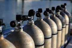 Compressed Air Tanks Royalty Free Stock Photos