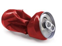 Compressed cans isolated on a white background. For you to job design stock image
