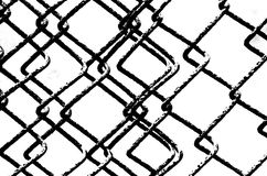 Compressed Chain Link Fence Stock Photography