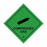 Compressed gas sign vector design stock image