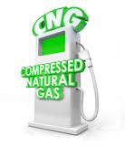Compressed Natural Gas CNG Alternative Fuel Pump Royalty Free Stock Photos