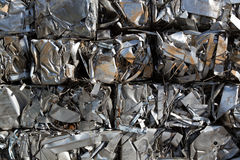 Compressed packages scrap of metal Royalty Free Stock Image