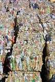 Compressed paper and cardboard for recycling Royalty Free Stock Image