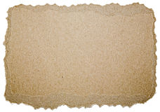 Compressed paper cardboard torn edges Royalty Free Stock Photo