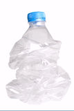 Compressed plastic bottle Royalty Free Stock Images