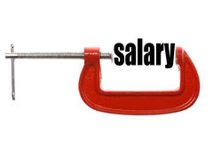 Compressed salary Royalty Free Stock Images