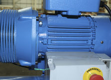Compresseur bleu d'usine Image libre de droits