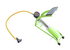 Compresseur de pied et mètre de pression ouvert Images libres de droits