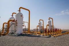Compresseur de refinator de pétrole et de gaz Photographie stock libre de droits