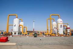 Compresseur de refinator de pétrole et de gaz Images stock