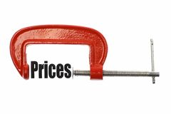 Compressing prices Royalty Free Stock Images